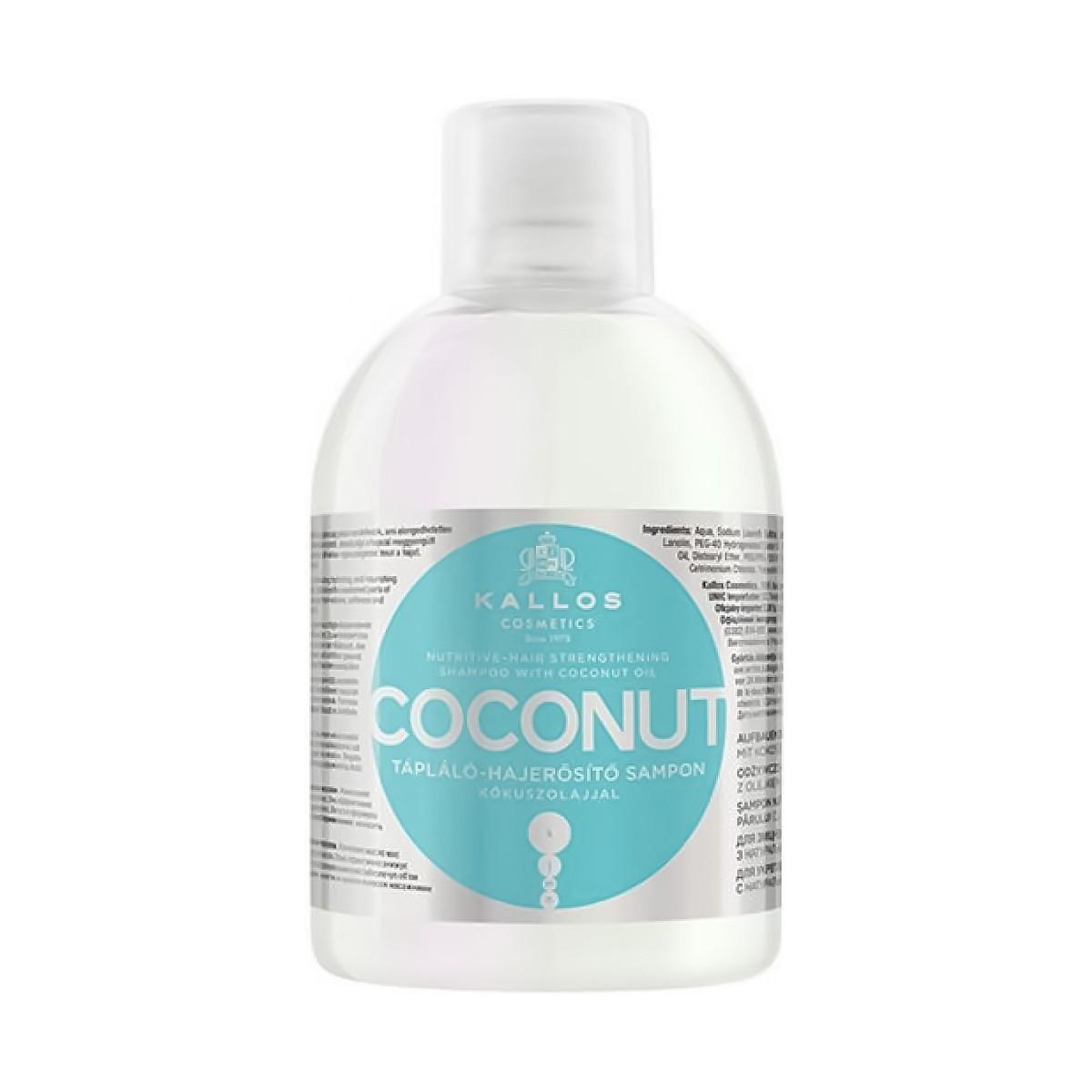 KALLOS KJMN Coconut Shampoo 1000ml - Szampon odżywczy z olejkiem kokosowym