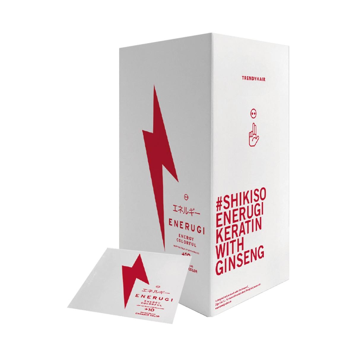 TRENDY HAIR Enerugi Shikiso Keratin with Ginseng 1szt. - Kuracja do włosów farbowanych i rozjaśnianych