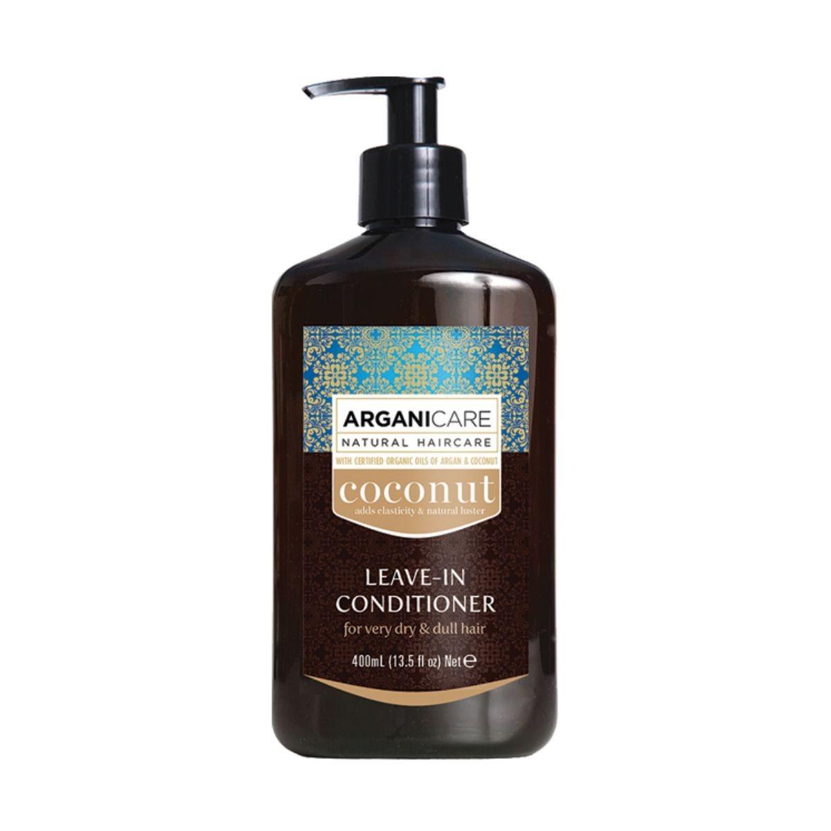 ARGANICARE Coconut Leave-in Conditioner 400ml - Odżywka bez spłukiwania do bardzo suchych i matowych włosów