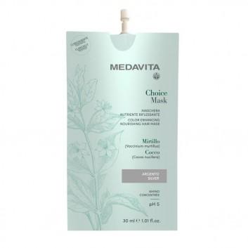 MEDAVITA Choice Mask Argento 30ml - Maska koloryzująca, zmieniająca kolor Srebrna