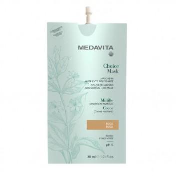 MEDAVITA Choice Mask Beige 30ml - Maska koloryzująca, zmieniająca kolor Beżowa