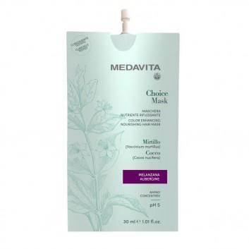MEDAVITA Choice Mask Melanzana / Aubergine 30ml - Maska do włosów koloryzująca, zmieniająca kolor Oberżyna