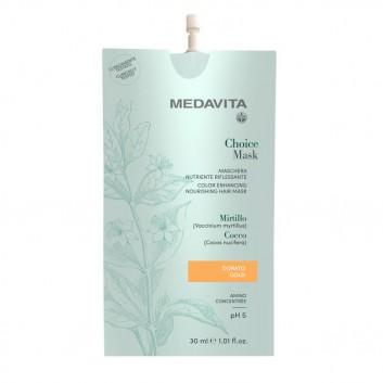 MEDAVITA Choice Mask Dorato 30ml - Maska koloryzująca, zmieniająca kolor Złota