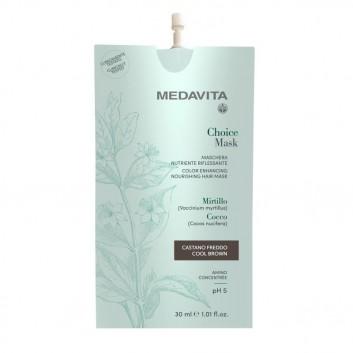 MEDAVITA Choice Mask Castano 30ml - Maska koloryzująca, zmieniająca kolor Zimny Brąz