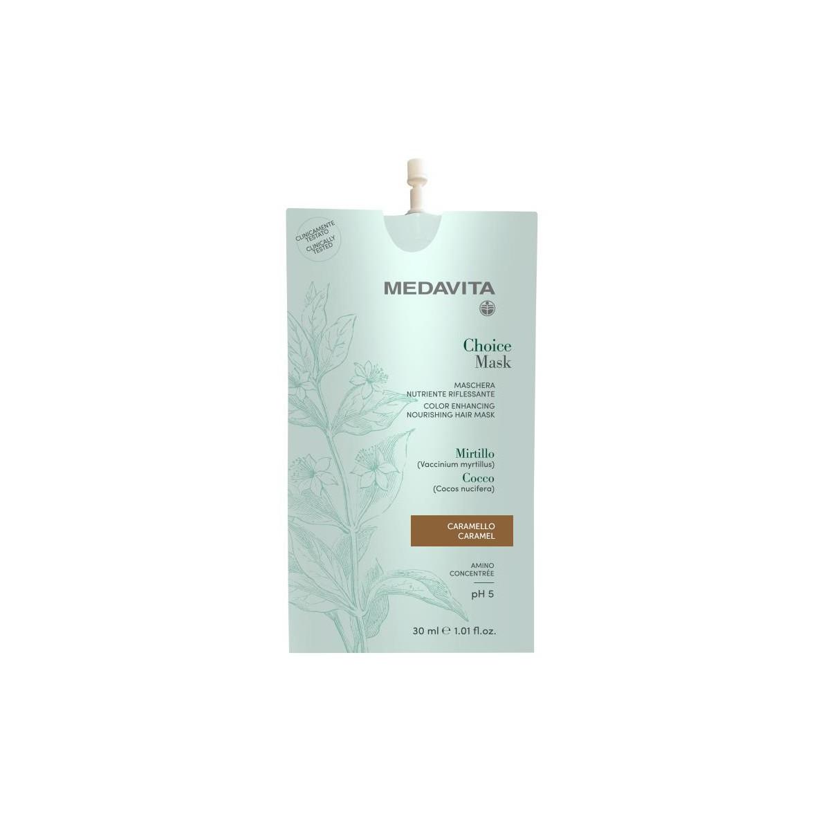 MEDAVITA Choice Mask Caramello / Caramel 30ml - Maska do włosów koloryzująca, zmieniająca kolor Karmelowa