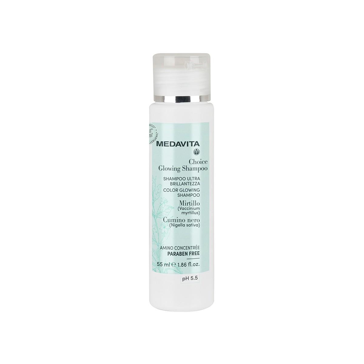 MEDAVITA Choice Color Glowing Shampoo 55ml - Szampon do każdego rodzaju włosów rozświetlający