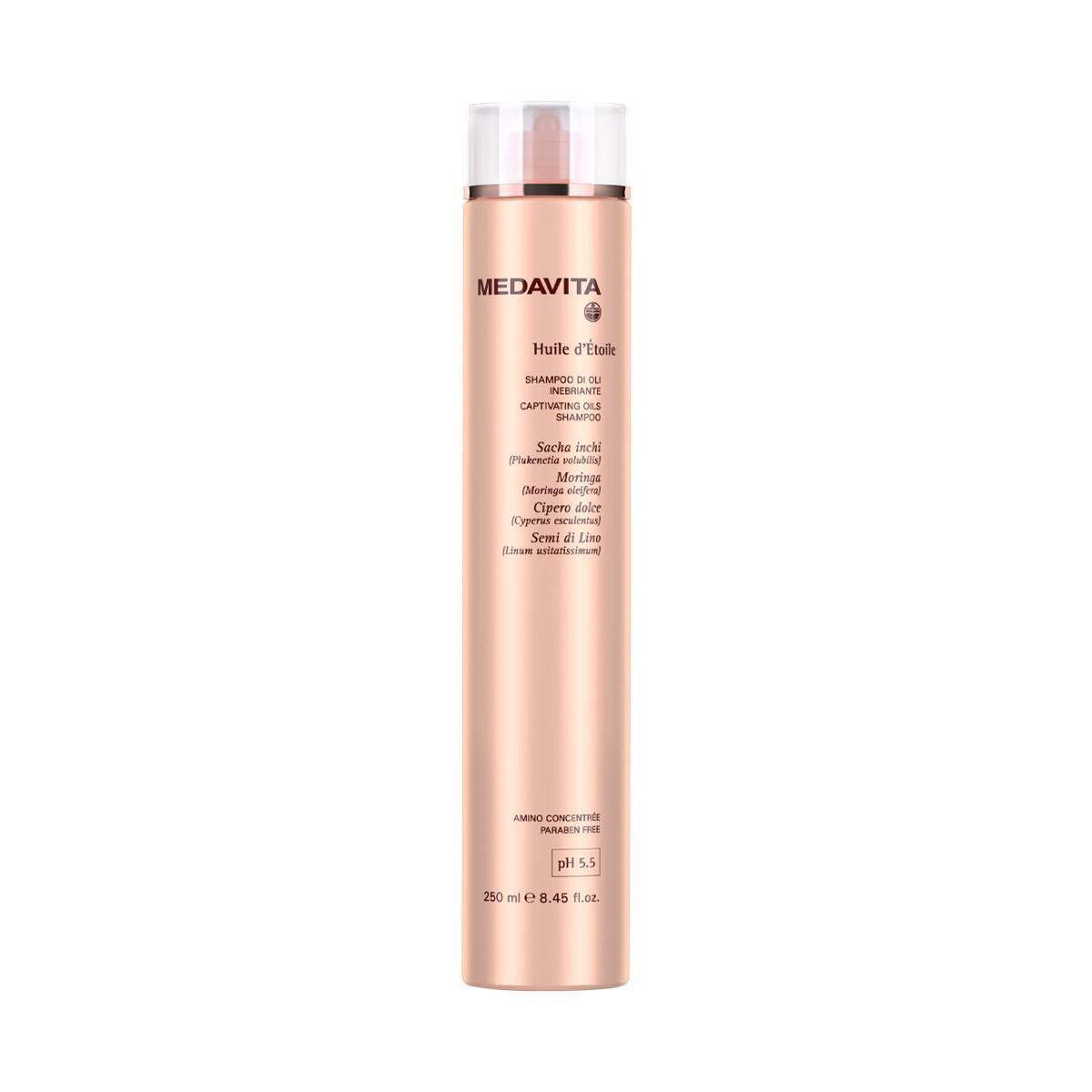 MEDAVITA Huile d'Etoile Shampoo Di Oli Inebriante 250ml - Szampon do olejowania każdego rodzaju włosów nabłyszczający