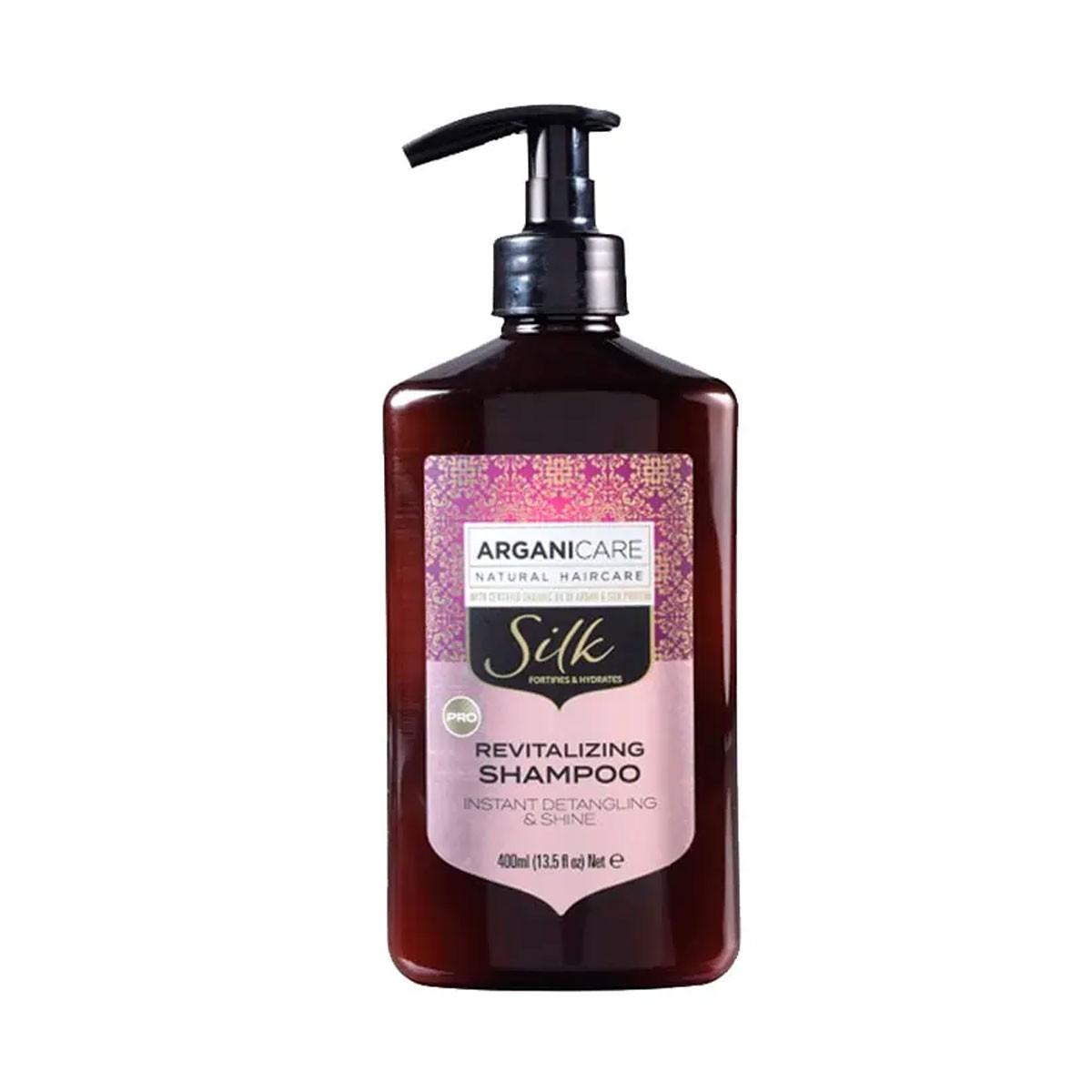 ARGANICARE Silk Instant Detangling & Shine Revitalizing Shampoo 400ml - Szampon wzmacniający i nawilżający