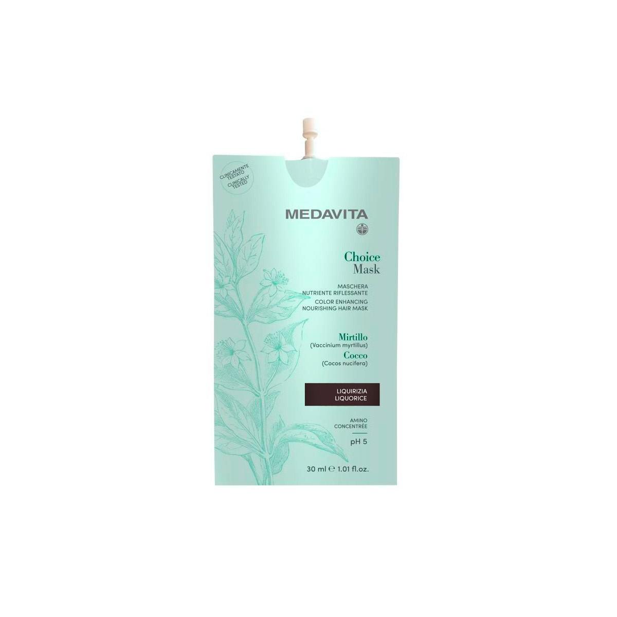 MEDAVITA Choice Mask Liquirizia / Liquorice 30ml - Maska do włosów koloryzująca, zmieniająca kolor Lukrecja