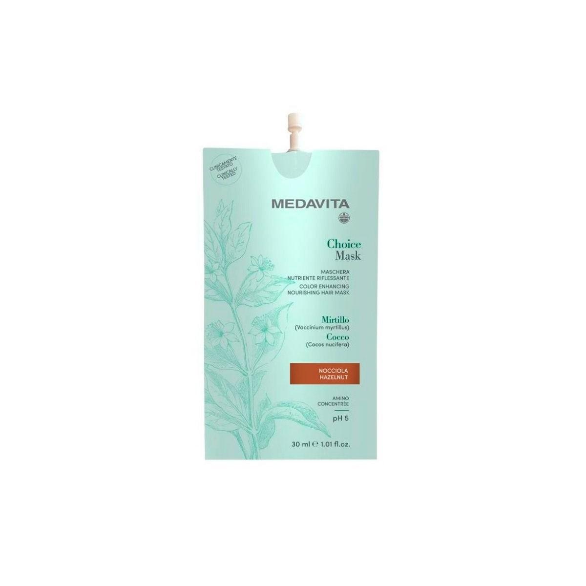 MEDAVITA Choice Mask Nocciola / Hazelnut 30ml - Maska do włosów koloryzująca, zmieniająca kolor Orzech Laskowy