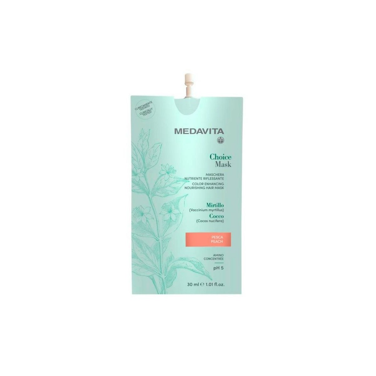 MEDAVITA Choice Mask Pesca / Peach 30ml - Maska do włosów koloryzująca, zmieniająca kolor Brzoskwinia