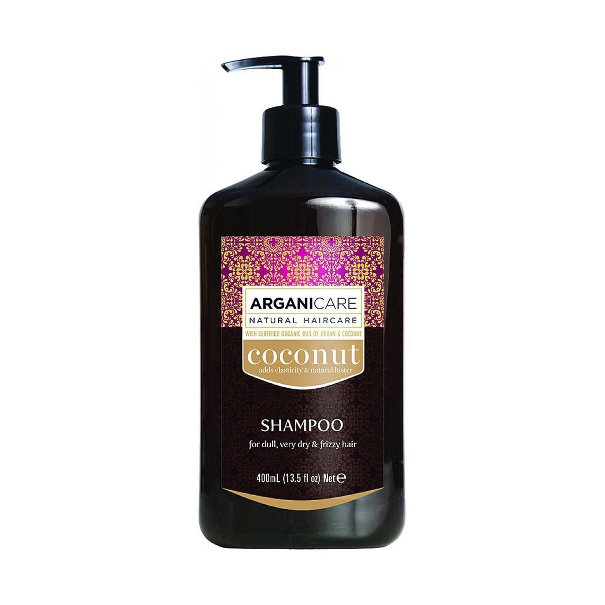 ARGANICARE Coconut Shampoo 400ml - Szampon do suchych, puszących się włosów