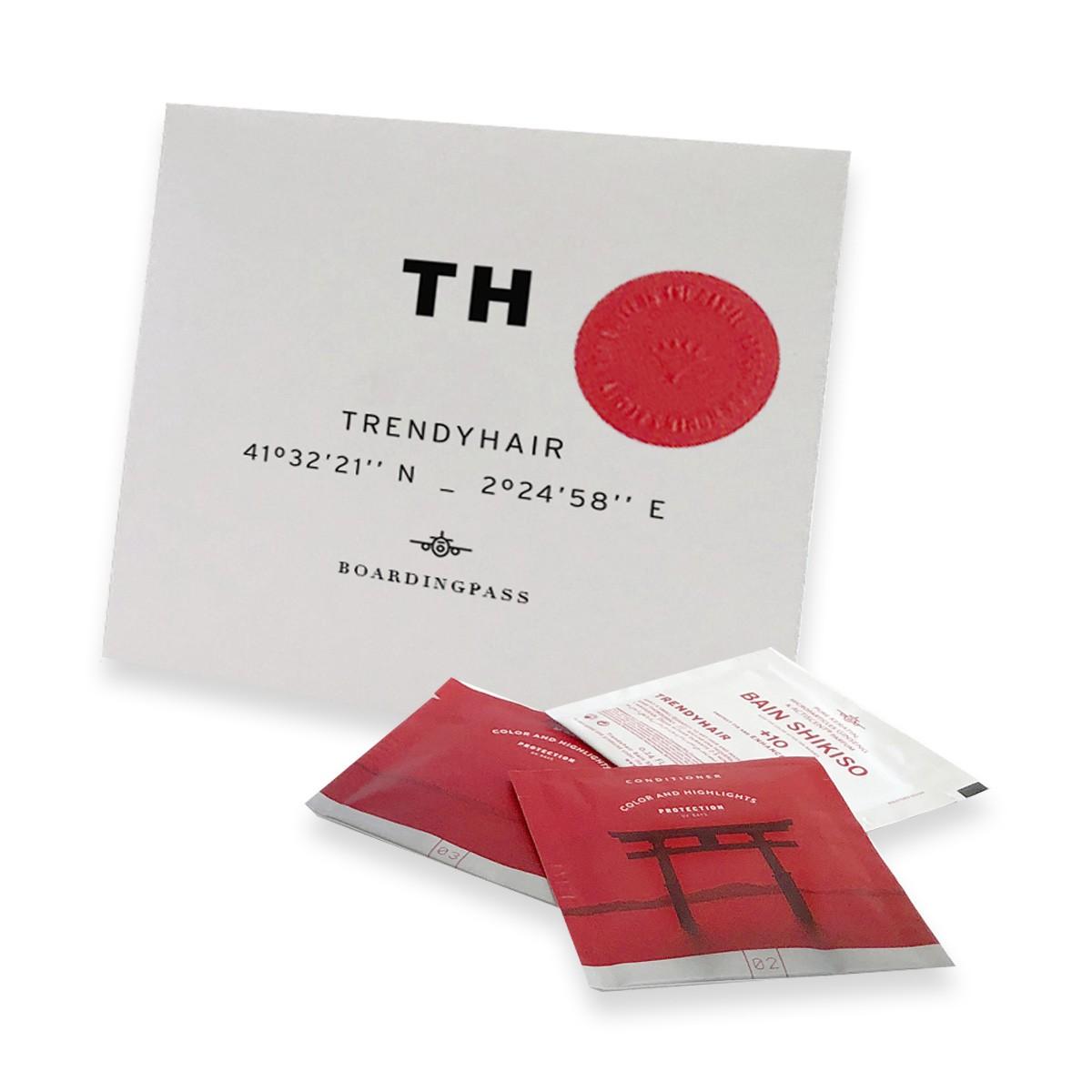 TRENDY HAIR Boarding Pass Shikiso - Zestaw Szampon 7ml + Odżywka 7ml + Maska 7ml