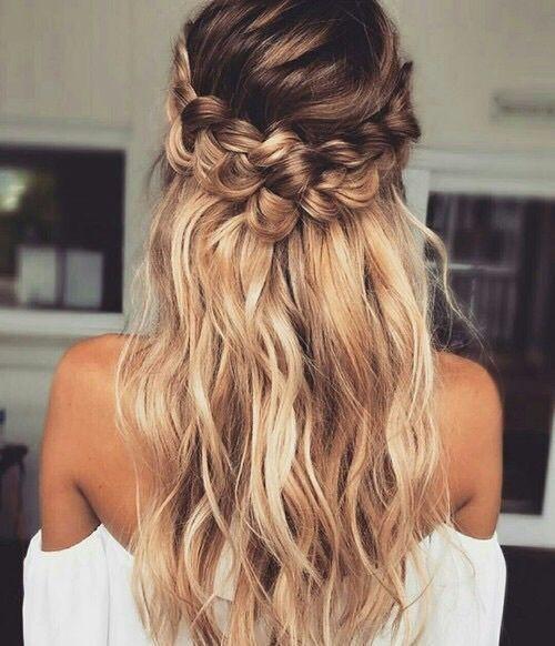 długie włosy fryzury ślub