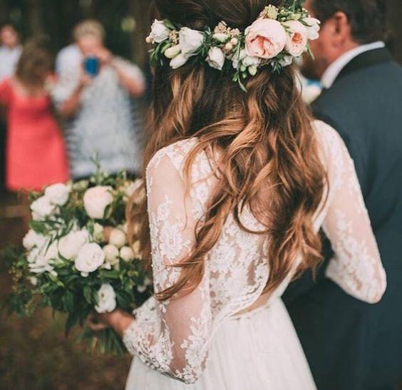 długie włosy fryzury ślubne 2017