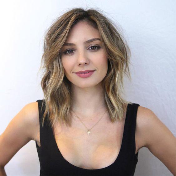 cienkie włosy - shag