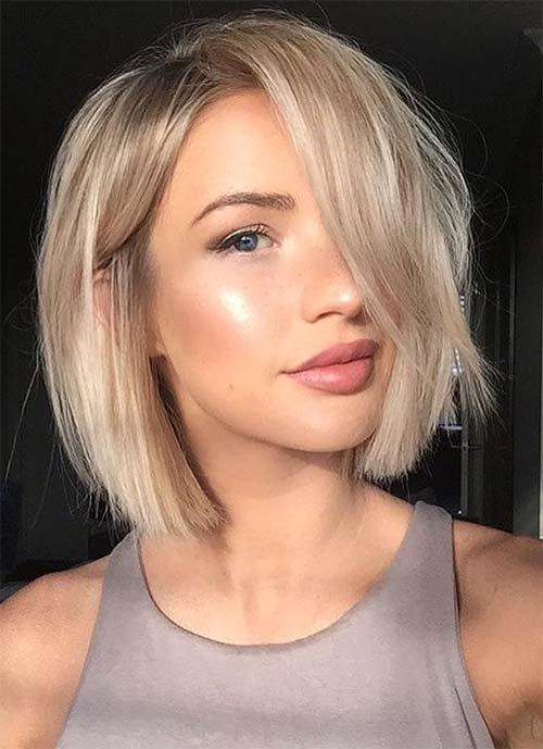 fryzura do cienkich włosów - bob