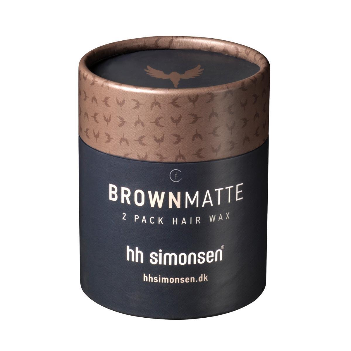 HH SIMONSEN Brown Matte Clay Wax - Wosk do stylizacji włosów o matowym wykończeniu