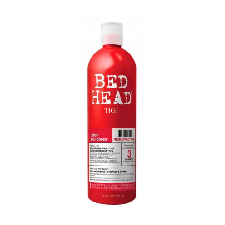 TIGI Bed Head Resurrection Shampoo 750ml - Szampon do włosów słabych i łamliwych