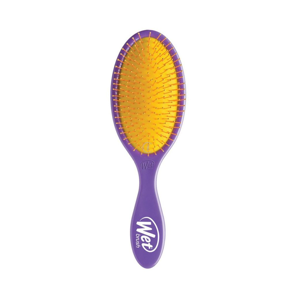 Szczotka rozplątująca żółto-fioletowa