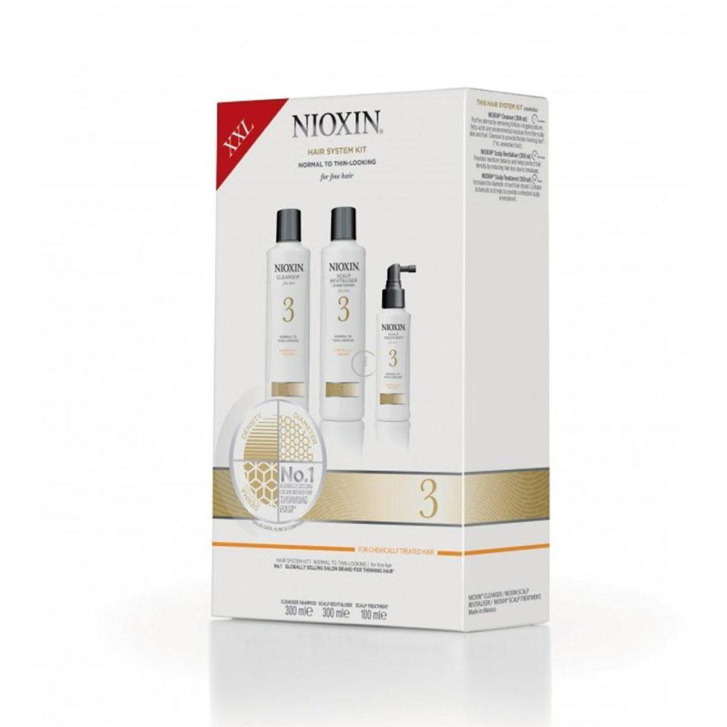 Zestaw włosy widocznie przerzedzone, cienkie i po zabiegach chemicznych (szampon 300ml + odżywka 300ml + kuracja 100ml)