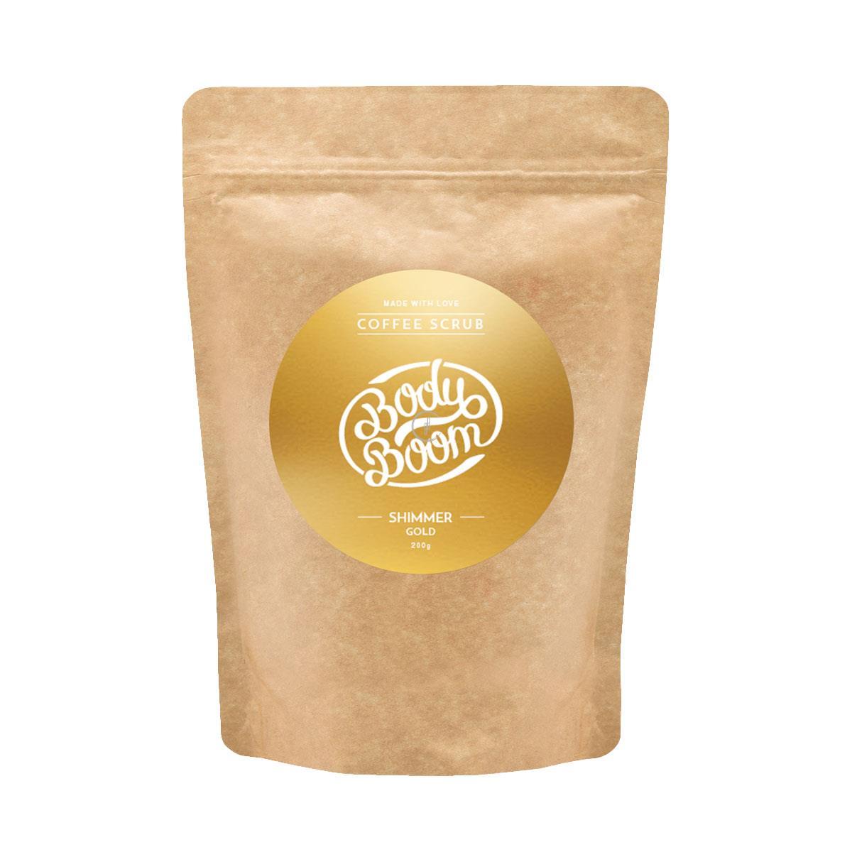 BODY BOOM Peeling Kawowy 200g - Shimmer Gold