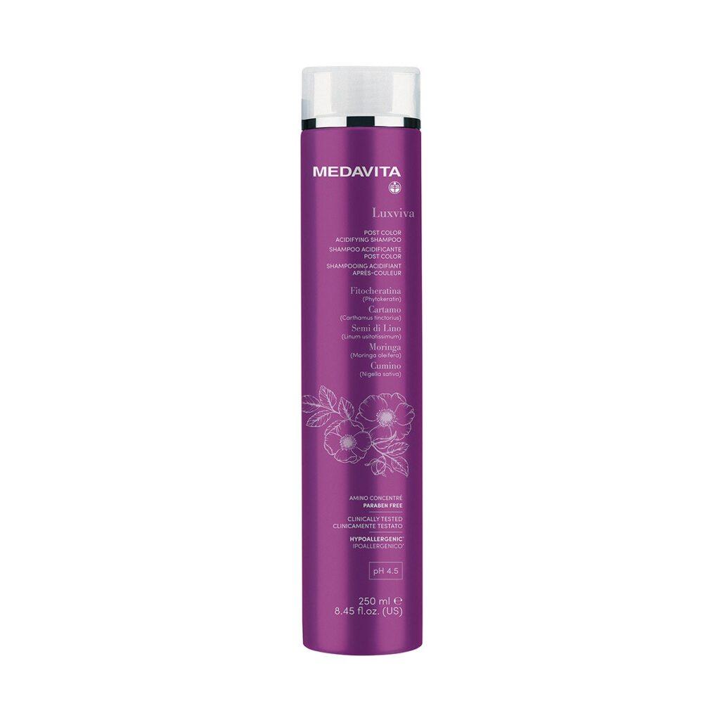 MEDAVITA Luxviva Acidificante Post Color Shampoo 250ml - Szampon do włosów farbowanych utrzymujący i chroniący kolor