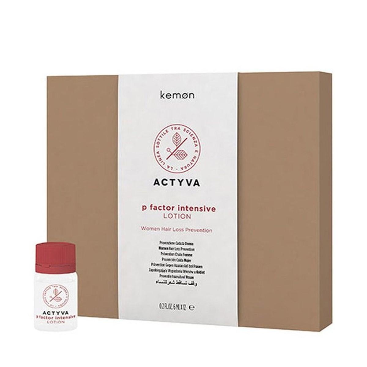 KEMON Actyva p Factor Intensive Lotion Women Hair Loss Prevention 12x6ml - Intensywny lotion przeciw wypadaniu włosów dla kobiet