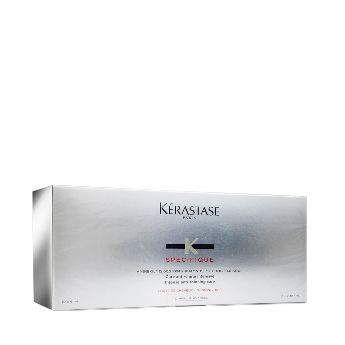 KERASTASE Specifique Aminexil Force R 10x6ml - Ampułki / kuracja intensywnie przeciwdziałająca okresowemu lub stałemu wypadaniu