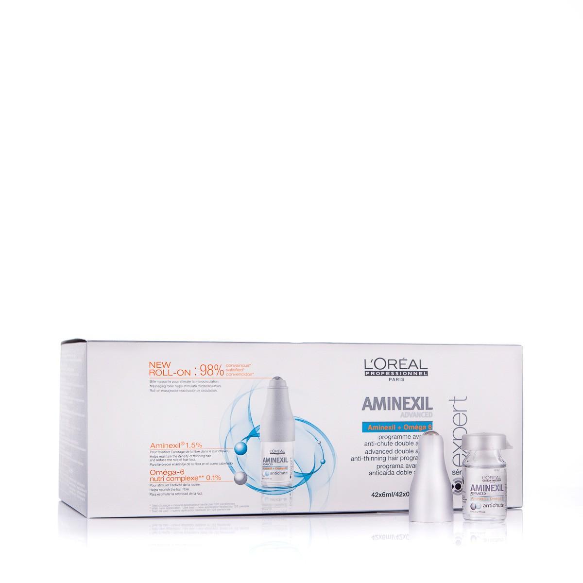 LOREAL Aminexil Advanced Anti-Thinning Hair Programme 42x6ml - Odżywcza kuracja zapobiegająca wypadaniu włosów