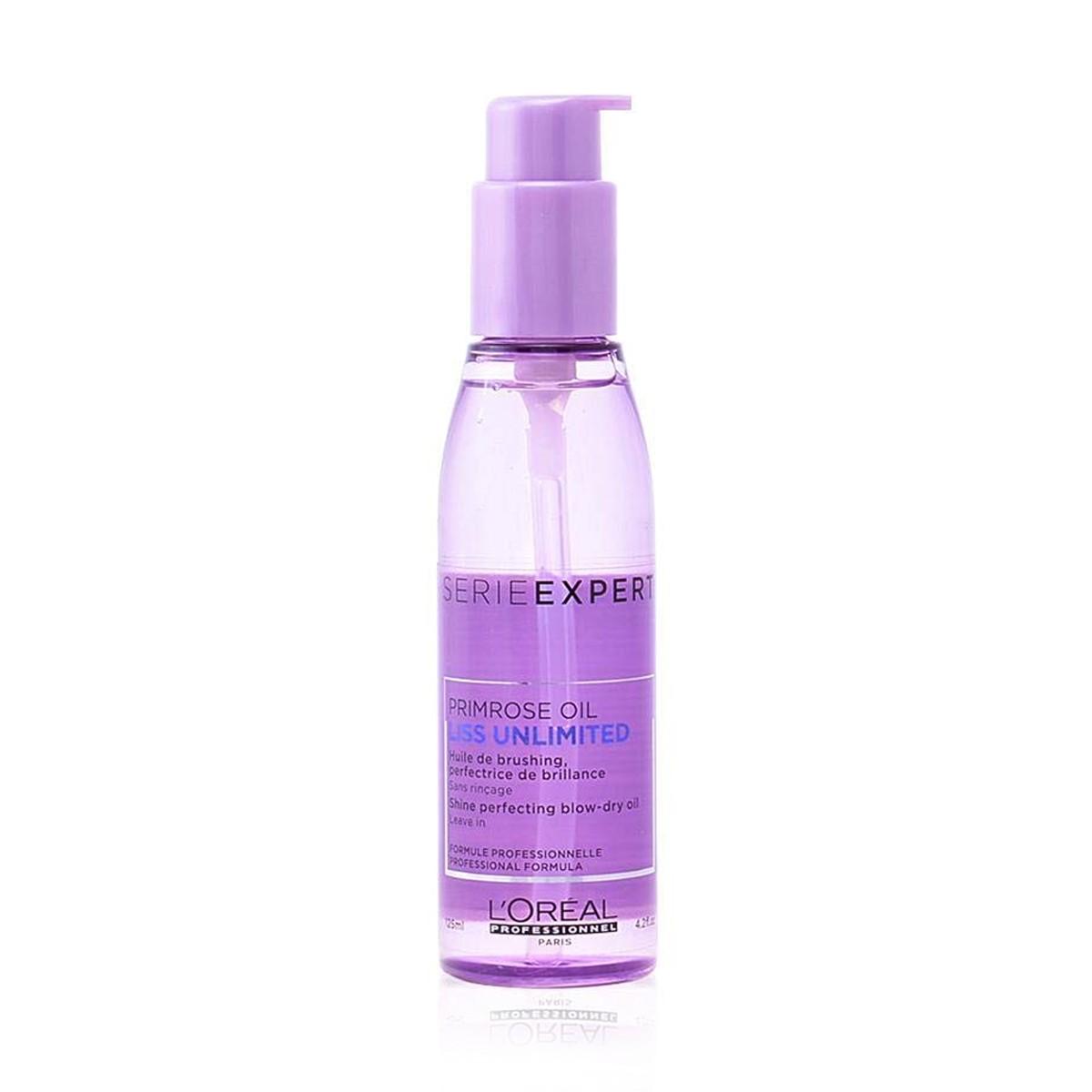 LOREAL Expert Liss Unlimited Oil 125ml - Olejek nabłyszczający do włosów niezdyscyplinowanych, kręconych, puszących i suchych