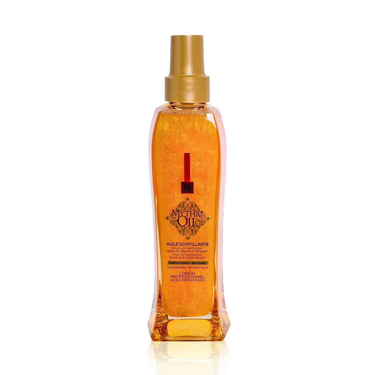 LOREAL Mythic Oil Scintillant Oil 100ml - Nabłyszczający olejek do ciała i włosów każdego rodzaju