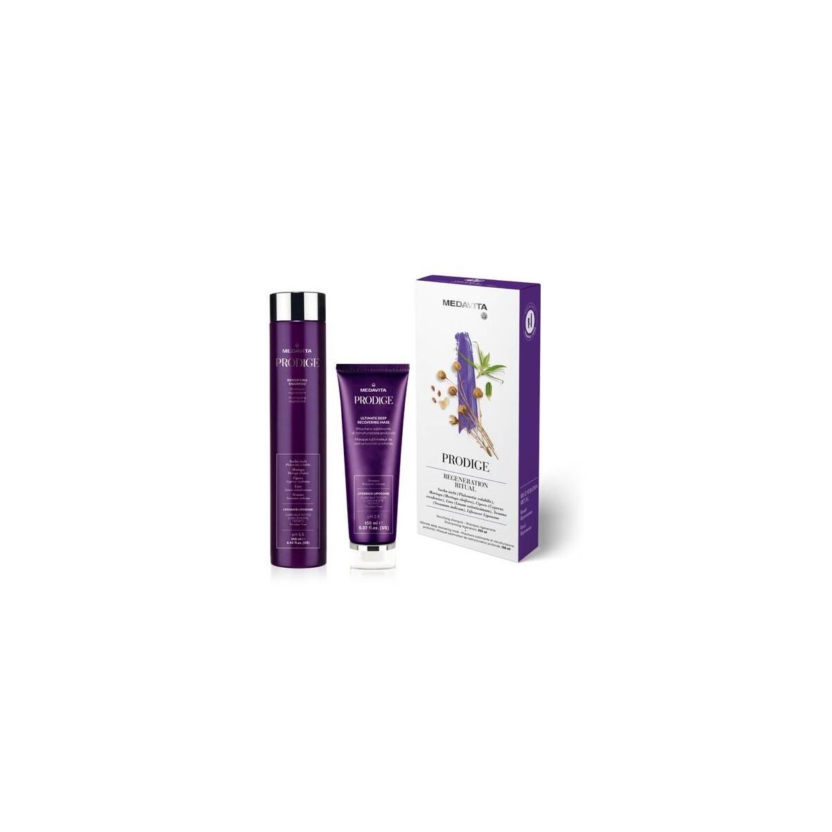 MEDAVITA Prodige Kit Regeneration Ritual (shampoo 250ml + mask 150ml) - Zestaw rewitalizujący