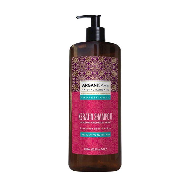 ARGANICARE Keratin Shampoo 1000ml - Szampon z keratyną, nadający włosom gładkość i blask