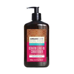 ARGANICARE Keratin Leave-in Conditioner 400ml - Odżywka bez spłukiwania z keratyną do kręconych włosów