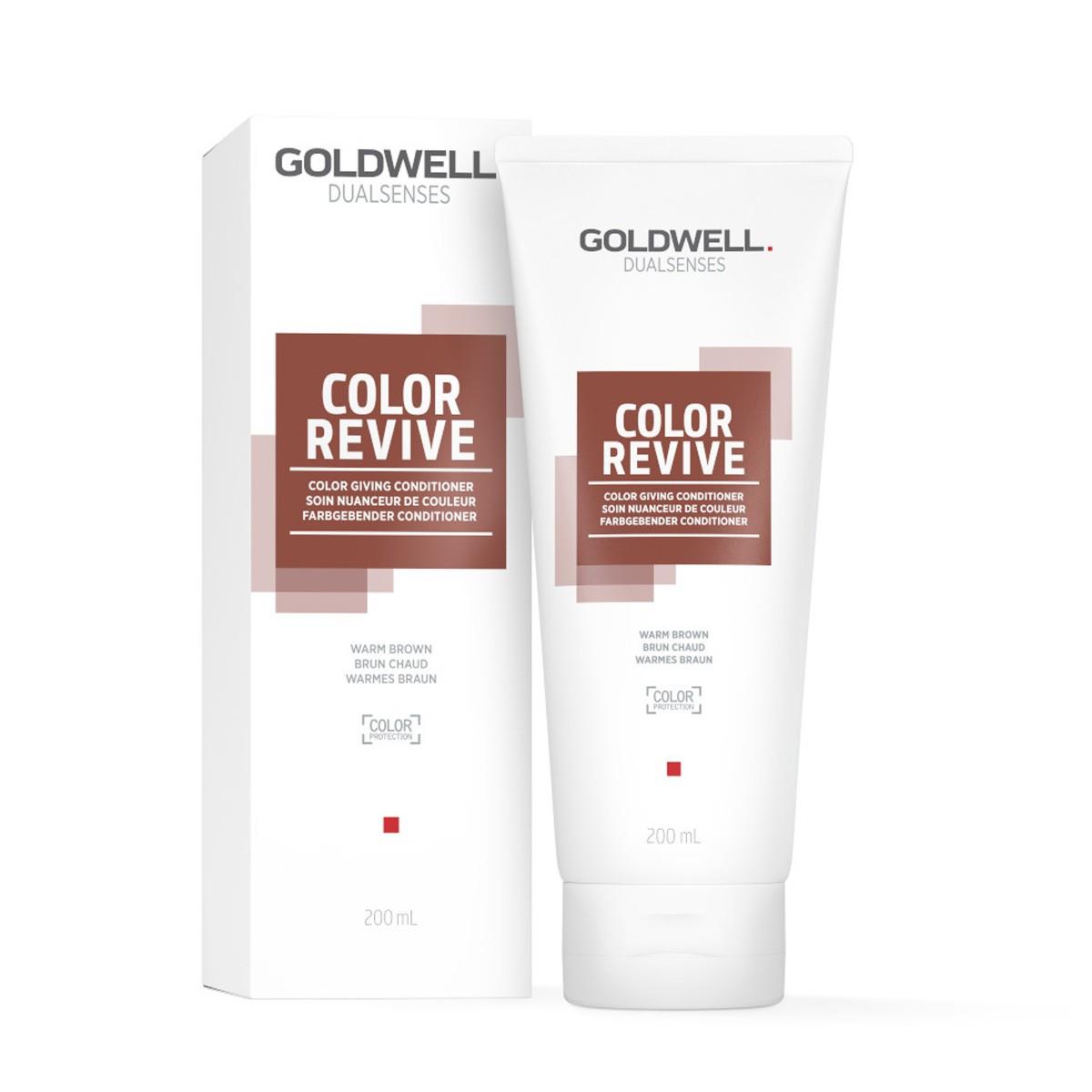 GOLDWELL Dualsenses Color Revive Warm Brown Conditioner 200ml - Odżywka koloryzująca odświeżająca kolor ciepły brąz