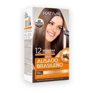 KATIVA Alisado Brasileno Brazilian Straightening Kit 225ml - Zestaw do keratynowego prostowania włosów