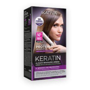KATIVA Keratin Alisado Brasileno Xpress Kit 230ml - Zestaw do keratynowego prostowania włosów
