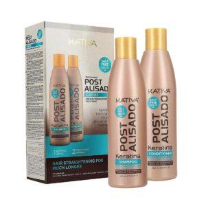KATIVA Post Alisado Keratina Straightening Post Treatment Kit (2x250ml) - Zestaw po keratynowym prostowaniu włosów