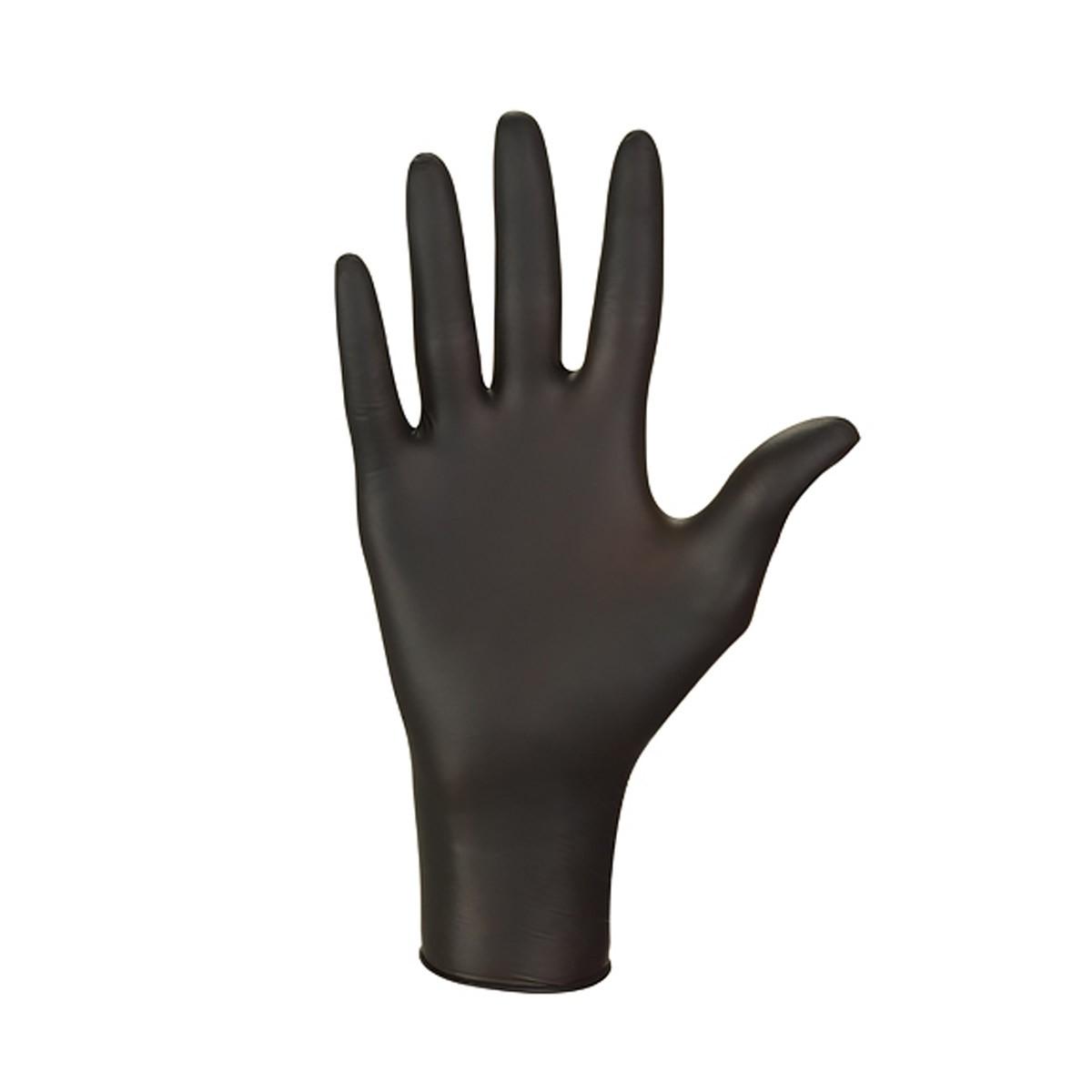 Rękawiczki nitrylowe (S) czarne, 100 sztuk