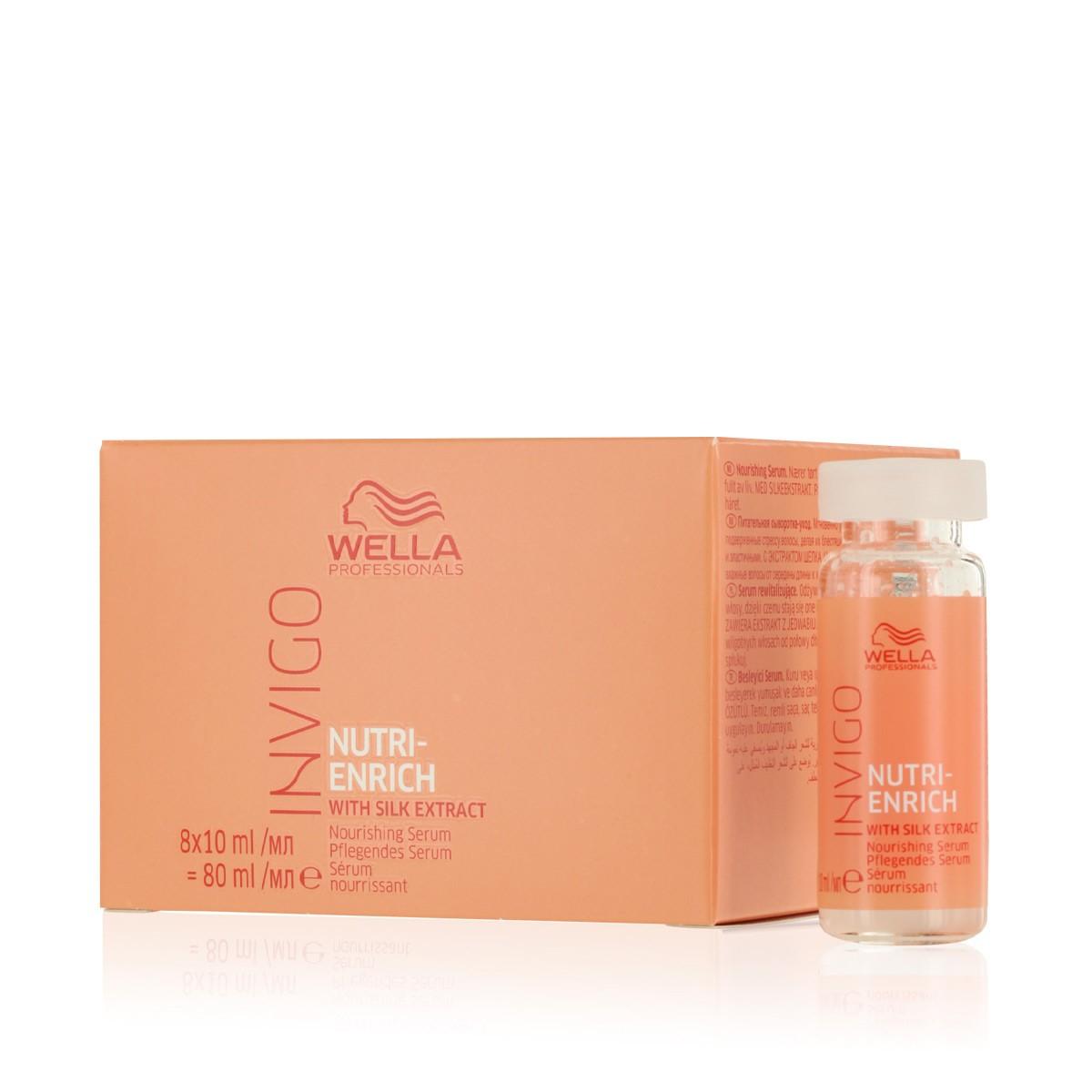 WELLA Invigo Nutri-Enrich Nourishing Serum 8x10ml - Ampułki / kuracja serum intensywnie nawilżające