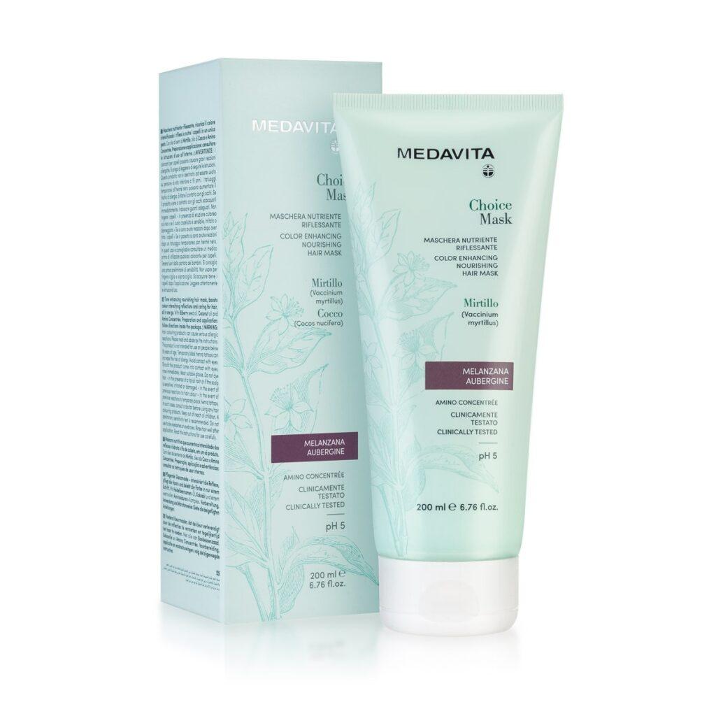 MEDAVITA Choice Mask Melanzana / Aubergine 200ml - Maska do włosów koloryzująca, zmieniająca kolor Oberżyna