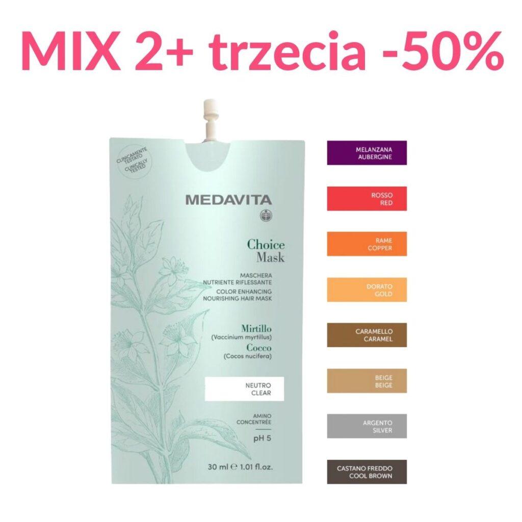 Trzecia -50% - MEDAVITA Choice Mask 30ml - Maska do włosów koloryzująca (dowolny mix odcieni)