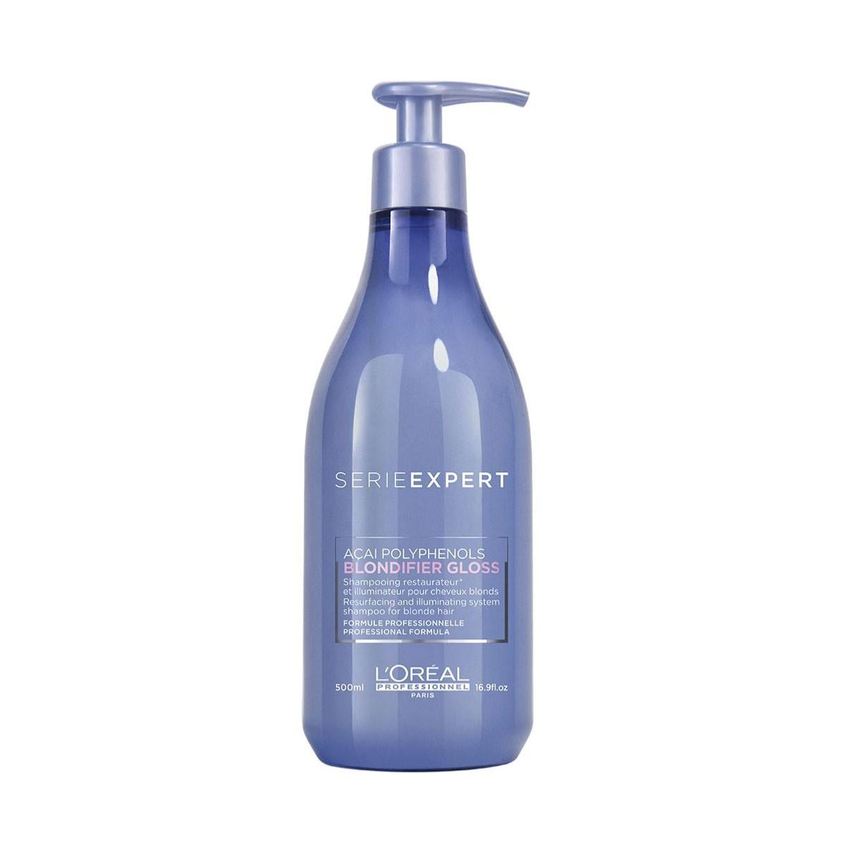 LOREAL Blondifier Gloss Shampoo 500ml - Szampon nabłyszczający do włosów blond