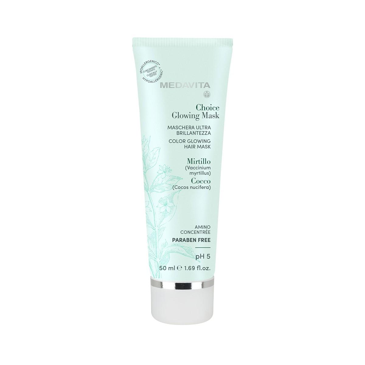 MEDAVITA Choice Color Glowing Mask 50ml - Maska do każdego rodzaju włosów rozświetlająca