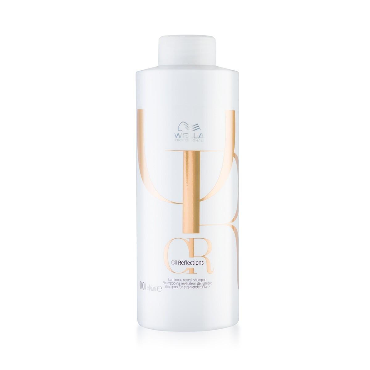 WELLA Oil Reflections Shampoo 1000ml - Szampon przywracający włosom blask