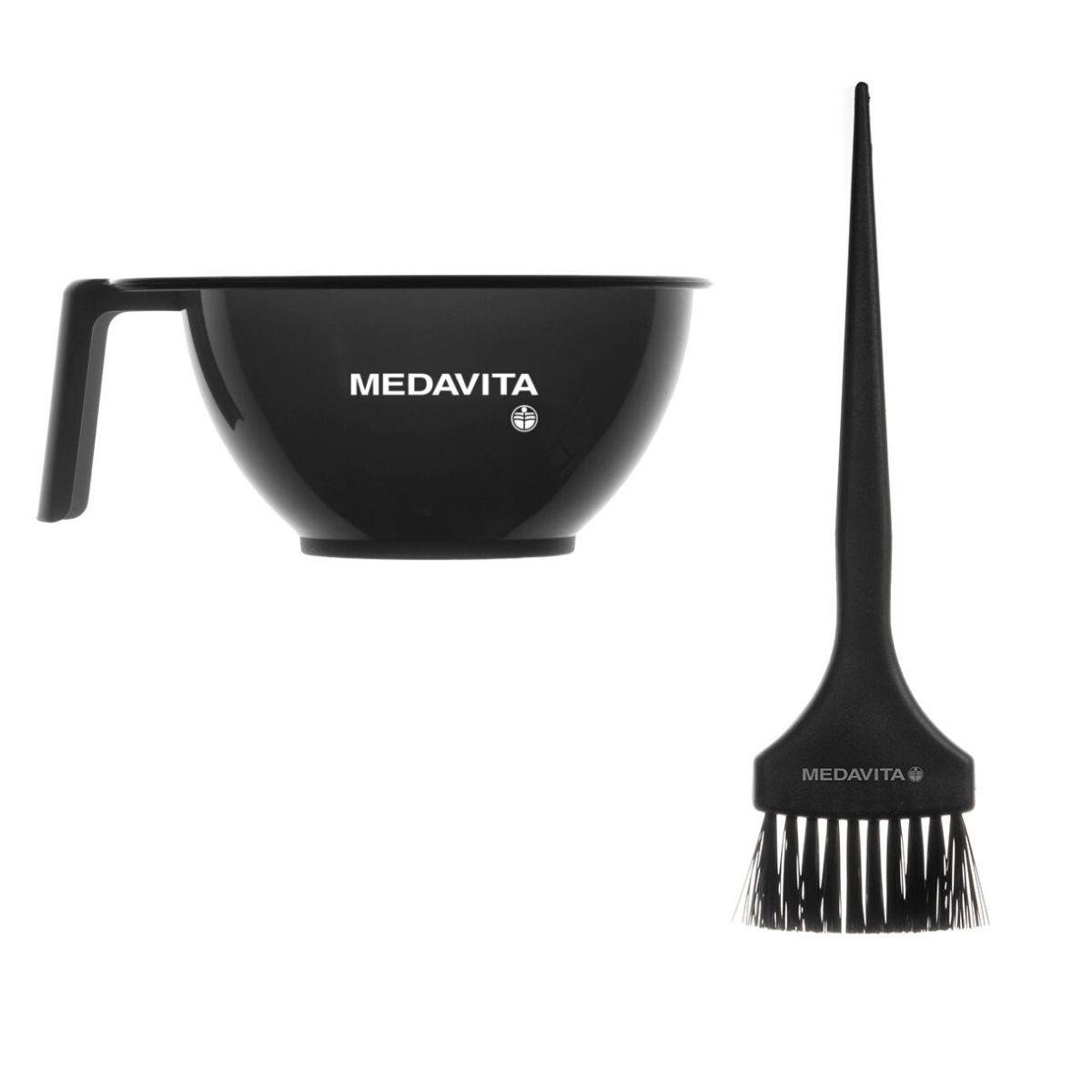 Pakiet - MEDAVITA Miseczka i pędzel do koloryzacji włosów