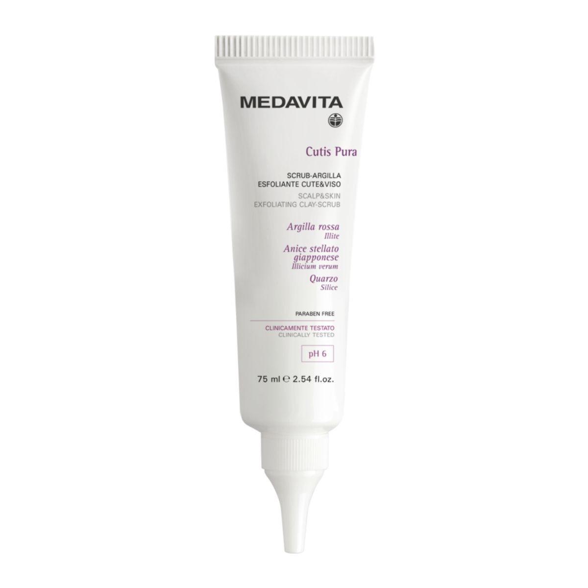 MEDAVITA Cutis Pura Scrub-Argilla 75ml - Trychologiczny peeling do skóry głowy