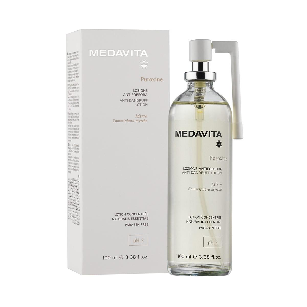 MEDAVITA Puroxine Lozione Antiforfora 100ml - Tonik lotion do włosów przeciwłupieżowy