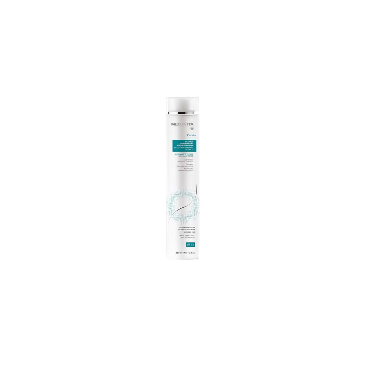 MEDAVITA Puroxine Shampoo Instant Anti-Dandruff 250ml - Szampon do włosów przeciwłupieżowy natychmiastowy efekt